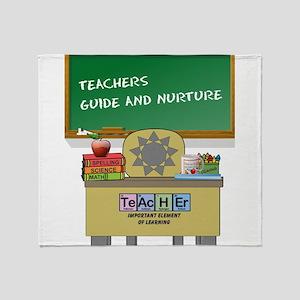 Teachers Guide And Nurture Throw Blanket