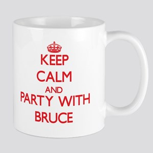 Keep Calm and Party with Bruce Mugs