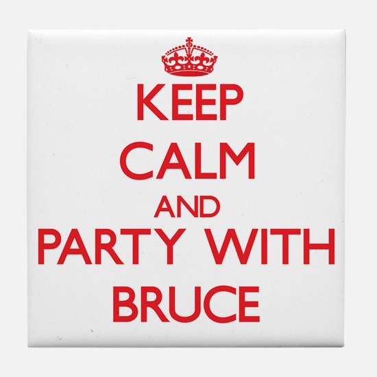 Keep Calm and Party with Bruce Tile Coaster