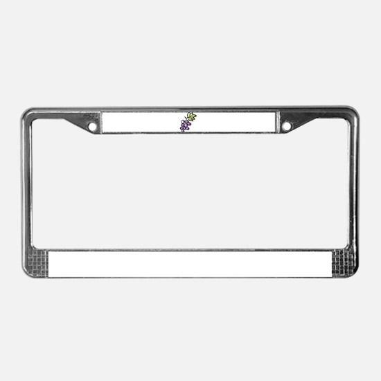 GRAPES [1 lt purple] License Plate Frame