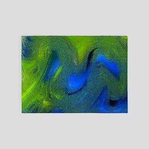 frozen colors blue 5'x7'Area Rug