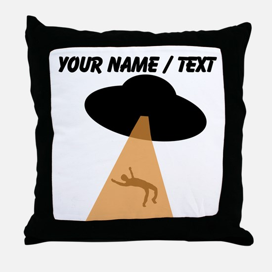 Custom Alien UFO Abduction Throw Pillow