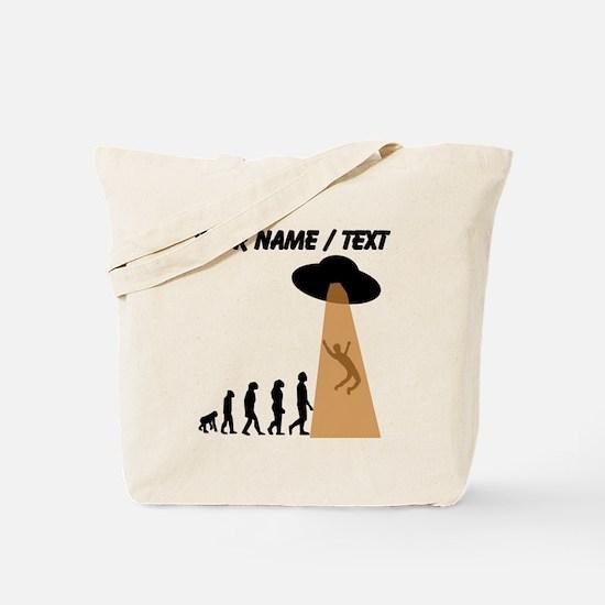 Custom Alien UFO Abduction Evolution Tote Bag