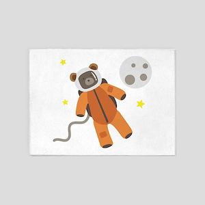 Teddy Bear Astronaut 5'x7'Area Rug