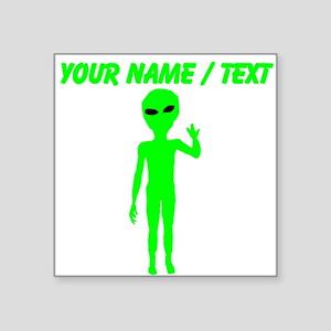 Custom Green Alien Sticker