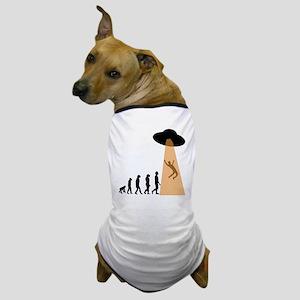 Alien UFO Abduction Evolution Dog T-Shirt