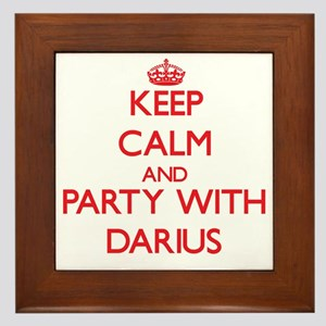 Keep Calm and Party with Darius Framed Tile