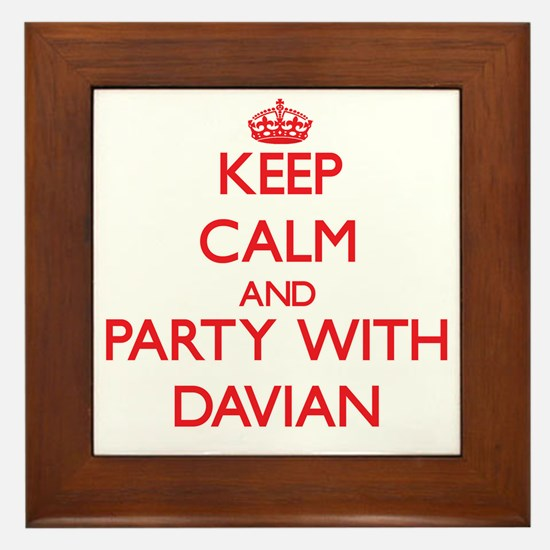 Keep Calm and Party with Davian Framed Tile