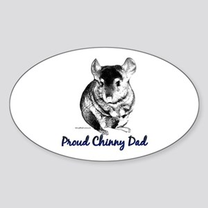 Chinny Dad Oval Sticker