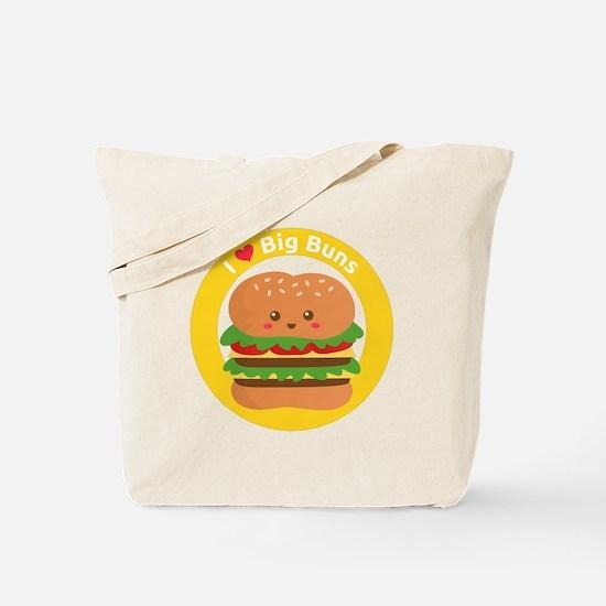 I love big buns, cute and funny burger Tote Bag