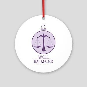 WELL BALANCED Ornament (Round)