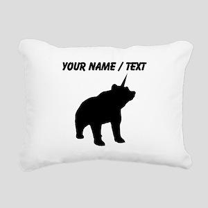 Custom Bearicorn Rectangular Canvas Pillow