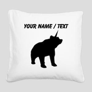 Custom Bearicorn Square Canvas Pillow