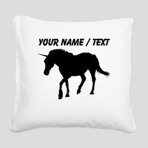 Custom Unicorn Silhouette Square Canvas Pillow