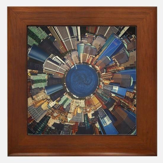 City Scene Surround Framed Tile