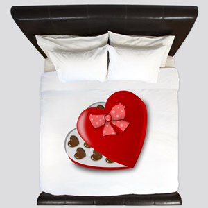 Candy For My Valentine King Duvet