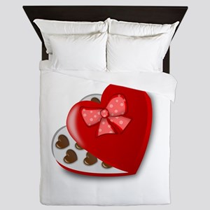 Candy For My Valentine Queen Duvet