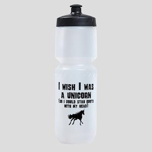 I Wish I Was A Unicorn Sports Bottle