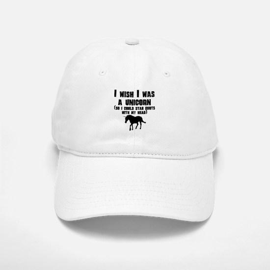 I Wish I Was A Unicorn Baseball Baseball Cap