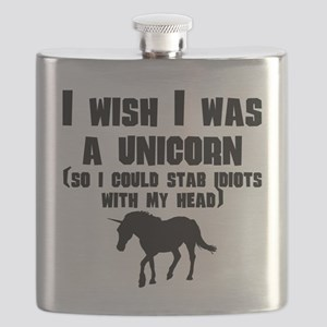 I Wish I Was A Unicorn Flask