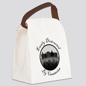 Easily Distracted By Cemeteries Canvas Lunch Bag