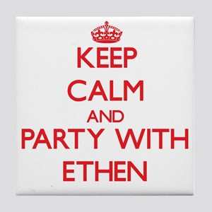 Keep Calm and Party with Ethen Tile Coaster
