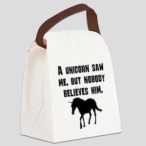 A Unicorn Saw Me Canvas Lunch Bag
