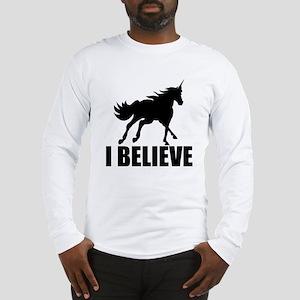 Unicorn I Believe Long Sleeve T-Shirt
