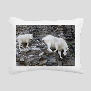 Mountain Goat Rectangular Canvas Pillow