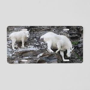 Mountain Goat Aluminum License Plate