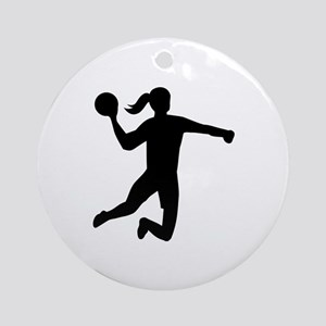 Womens handball Ornament (Round)