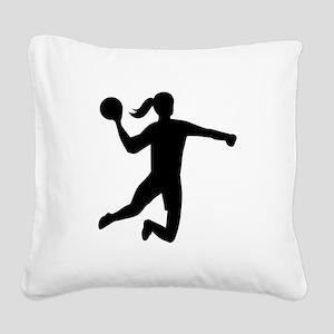 Womens handball Square Canvas Pillow