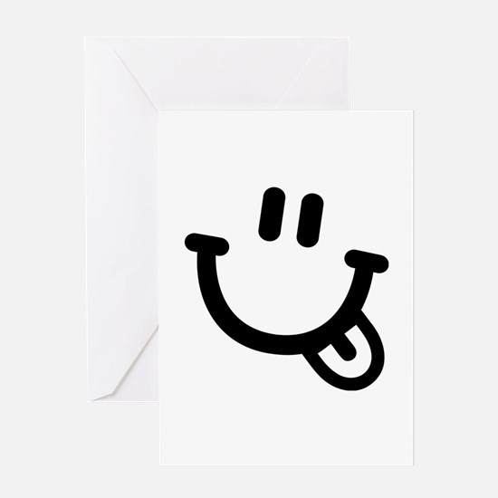 Smiley face tongue Greeting Card