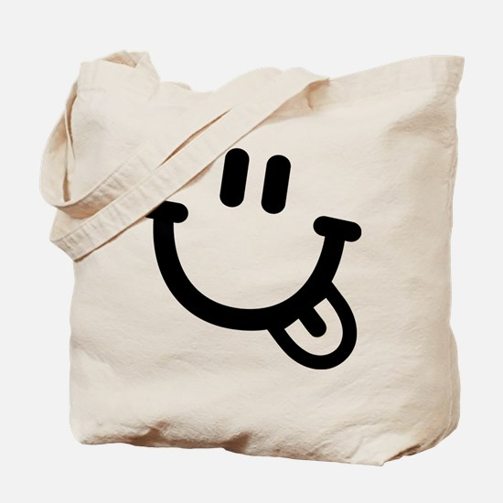 Smiley face tongue Tote Bag