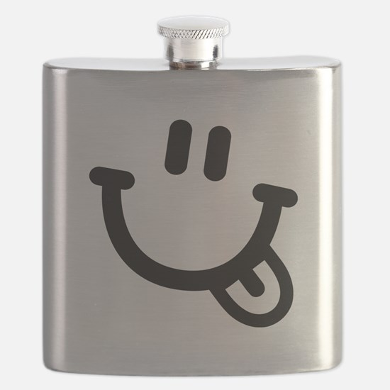 Smiley face tongue Flask