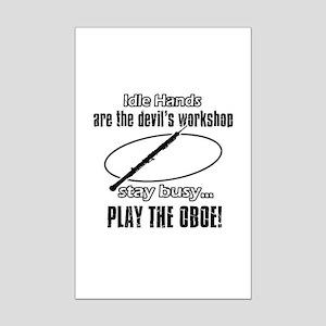 Play the oboe Mini Poster Print