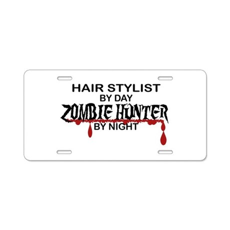 hair styling license hair stylist aluminum license plat by poor 6599 | zombie hunter hair stylist aluminum license plat