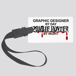 Zombie Hunter - Graphic Designer Large Luggage Tag