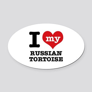 I love my Russian Tortise Oval Car Magnet
