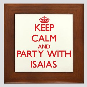 Keep Calm and Party with Isaias Framed Tile