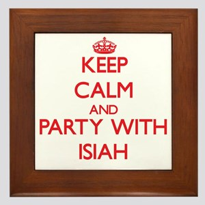 Keep Calm and Party with Isiah Framed Tile