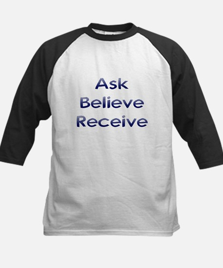 Ask Believe Receive Kids Baseball Jersey