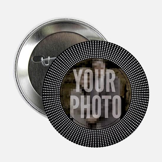 "CUSTOM PHOTO Art Deco Starburst 2.25"" Button"