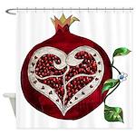 Pomegranate Heart Shower Curtain