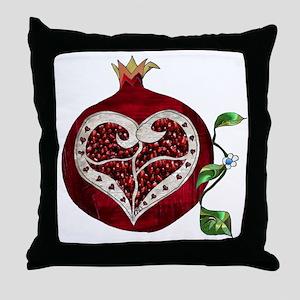 Pomegranate Heart Throw Pillow