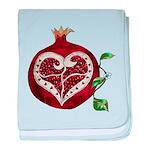 Pomegranate Heart baby blanket