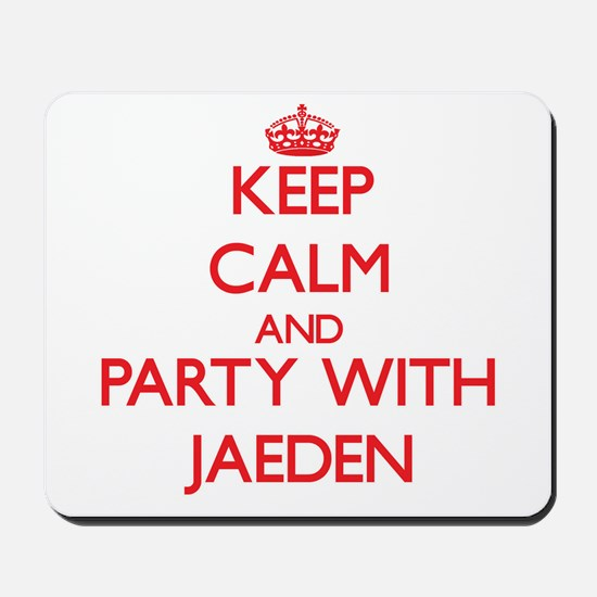 Keep Calm and Party with Jaeden Mousepad