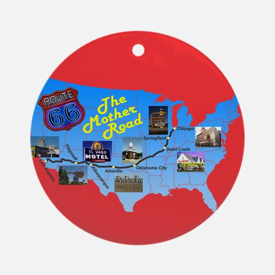 The Mother Road Ornament (Round)