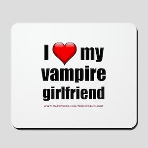 """Love My Vampire Girlfriend"" Mousepad"