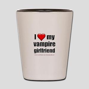 """""""Love My Vampire Girlfriend"""" Shot Glass"""